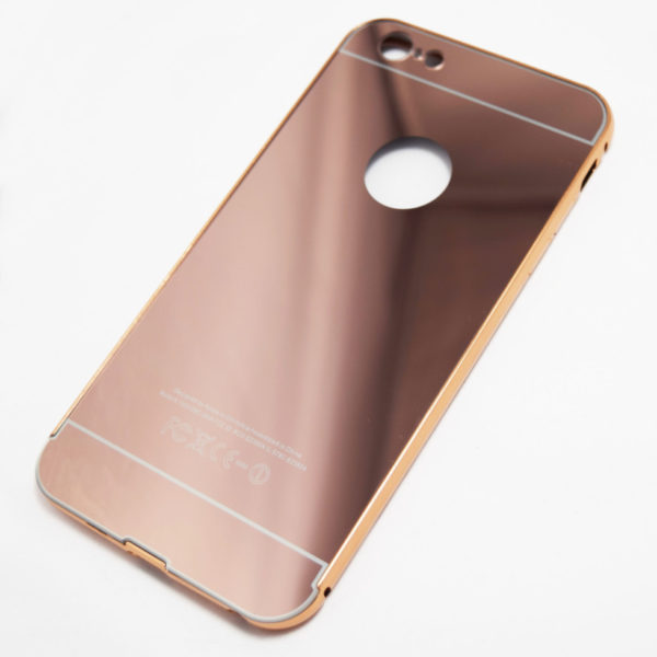 Rose gold iphone 6 plus 6s plus reflective mirror case for Phone mirror