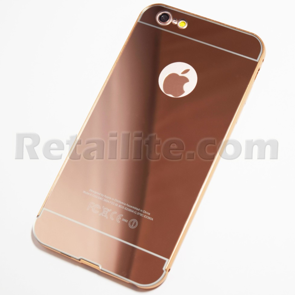 rose gold iphone 6 plus 6s plus reflective mirror case retailite. Black Bedroom Furniture Sets. Home Design Ideas