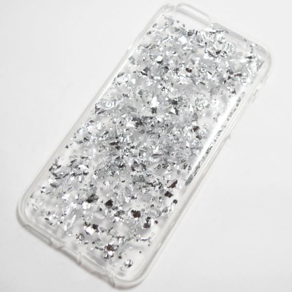 Metallic Silver Flake iPhone 6 6S Soft Case