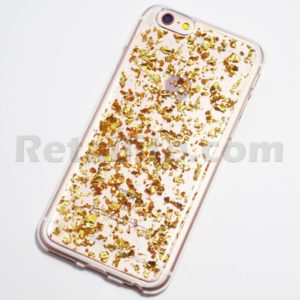 gold flakey metal iphone 6s case