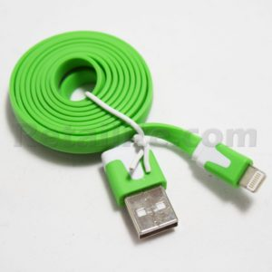green iphone 7 lightning cable