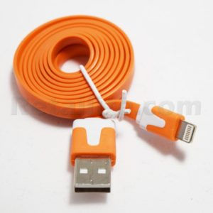 orange iphone 7 lightning cable