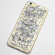 silver metal flakes iphone 6s soft case