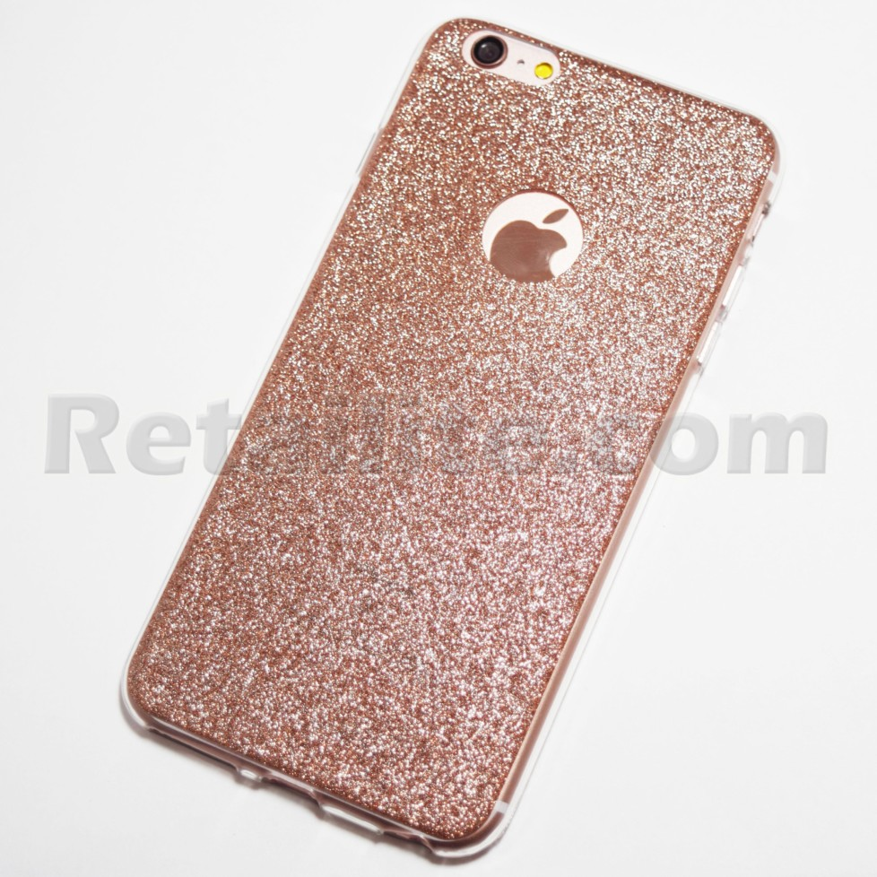 rose gold glitter iphone 6 plus iphone 6s plus soft case