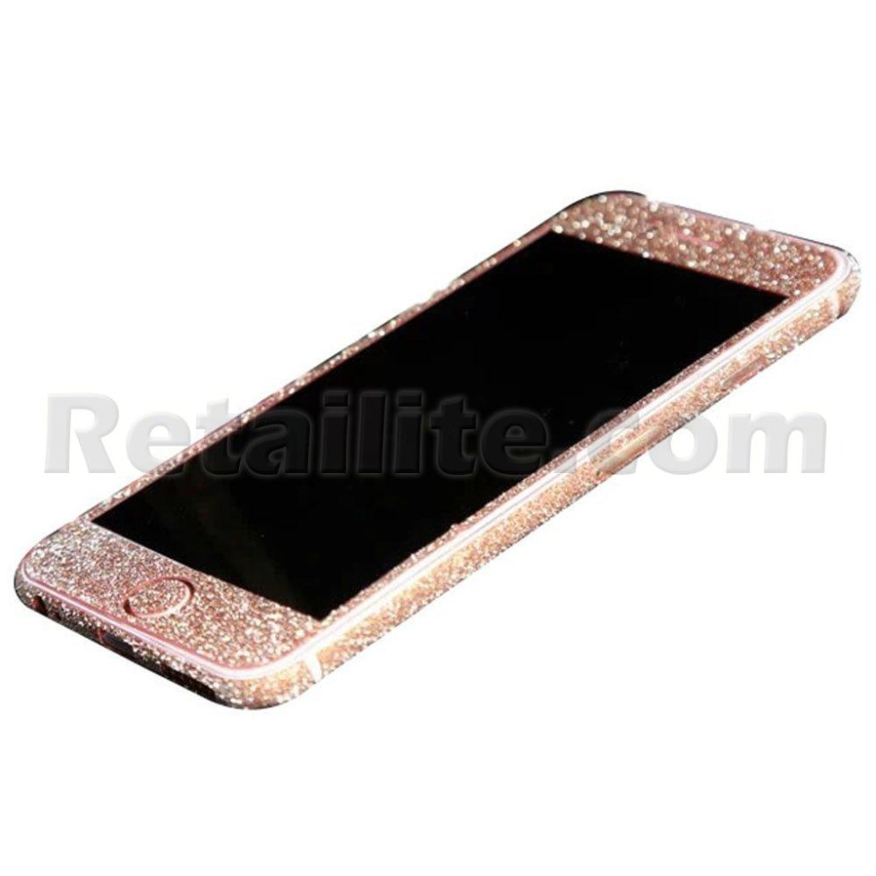 rose gold glittery iphone 6 6s full body sticker wrap. Black Bedroom Furniture Sets. Home Design Ideas