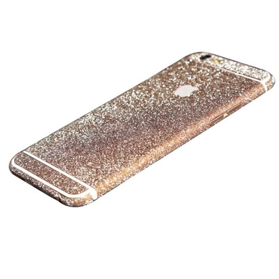 rose gold glittery iphone 6 plus 6s plus full body sticker wrap. Black Bedroom Furniture Sets. Home Design Ideas