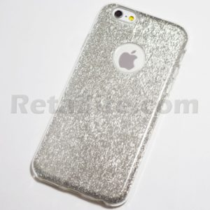 silver glitter bling iphone 6s plus case