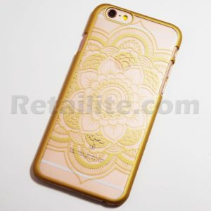 Gold chic flower iphone 6s case
