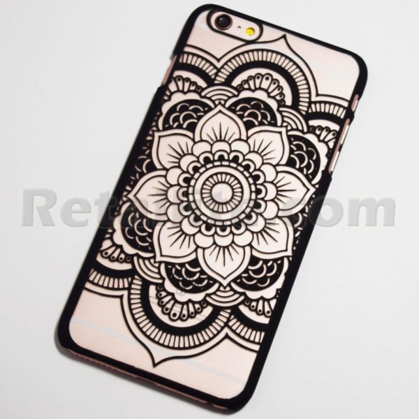 black boho chic flower iphone 6s case