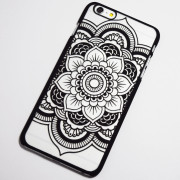 black chic flower iphone 6 case
