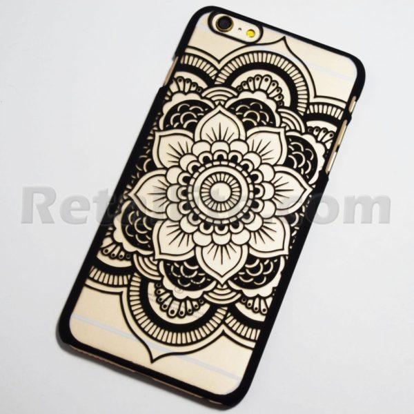 black chic flower iphone 6 hard case