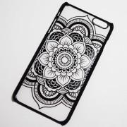 black indie flower iphone 6s case
