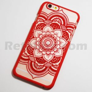 red boho chic henna flower iphone 6s case