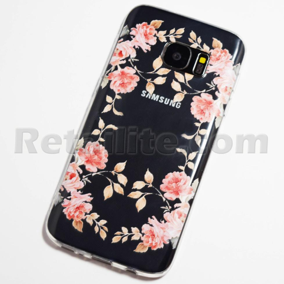 pink roses samsung galaxy s7 case. Black Bedroom Furniture Sets. Home Design Ideas