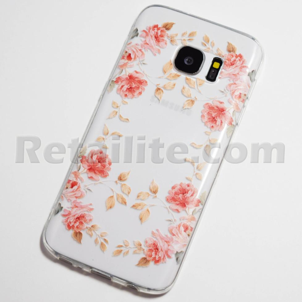 pink roses samsung galaxy s7 case retailite. Black Bedroom Furniture Sets. Home Design Ideas