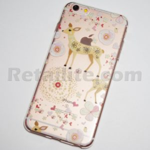 doe and flowers iphone 6s plus soft case