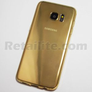 gold galaxy s7 edge transparent case
