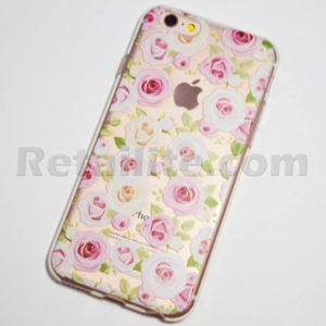 iphone 6s pink and white roses clear case