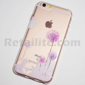 purple dandelion iPhone 6s clear case