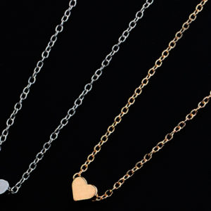 cute small heart pendant chain necklace