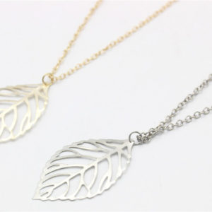 gold and silver leaves necklaces