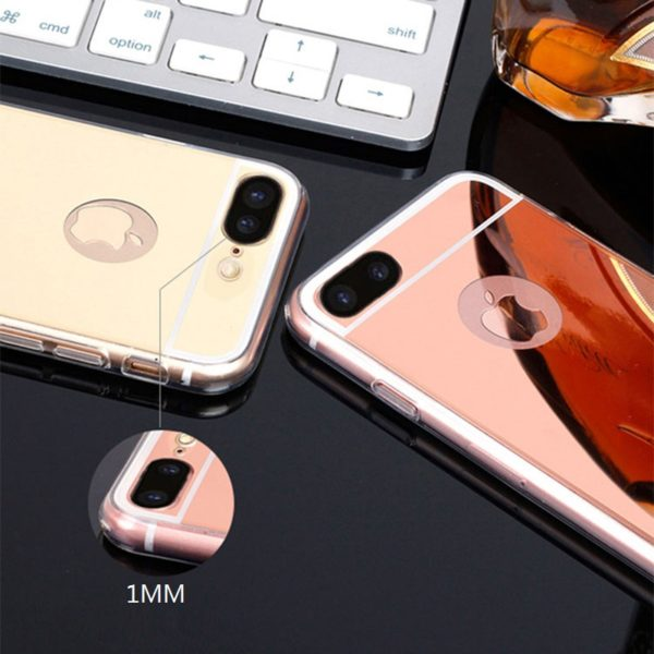 Rose Gold And Gold Mirror iPhone 7 Plus Cases