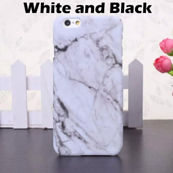 white and black marble iphone 7 plus case