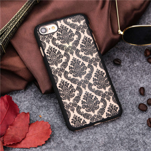 black Vintage flower iphone 7 case