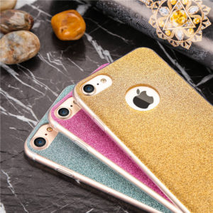 blue pink gold iphone 7 glitter cases