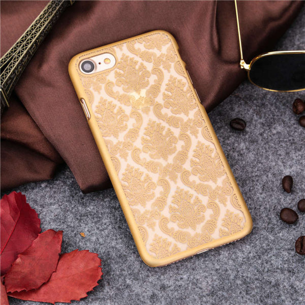 gold Vintage flower iphone 7 case
