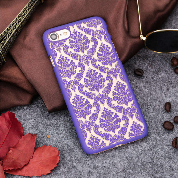 purple Vintage flower iphone 7 case