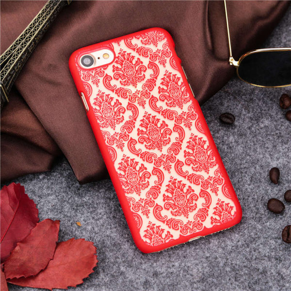 red Vintage flower iphone 7 case