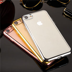 rose gold gold silver space grey Chrome Framed iPhone 7 case