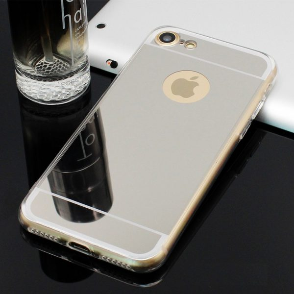 silver mirror iphone 7 plus case