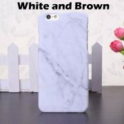 white and brown marble iphone 7 plus case
