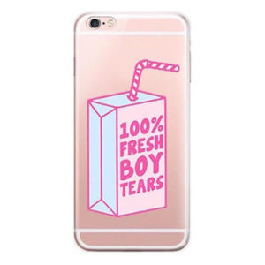 100% fresh boys tears iPhone 7 case