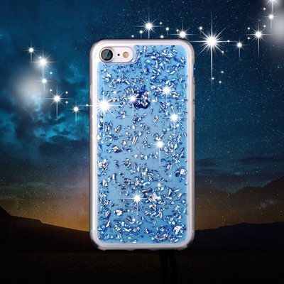 Blue Foil Metallic Flakes iPhone 7 case