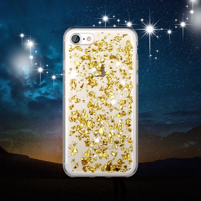 Gold Foil Metallic Flakes iPhone 7 case