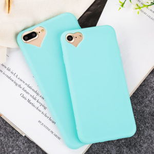 Heart shaped camera hole iphone 7 plus soft cases