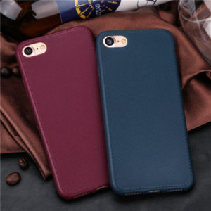 Red and Blue Leather iPhone 7 soft cases