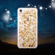 Rose Gold Foil Metallic Flakes iPhone 7 case