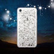 Silver Foil Metallic Flakes iPhone 7 case