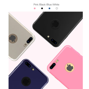 white black pink blue iphone 7 plus slim silicone cases