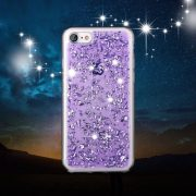 purple Foil Metallic Flakes iPhone 7 case