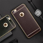 white trim brown and black leather iphone 7 cases