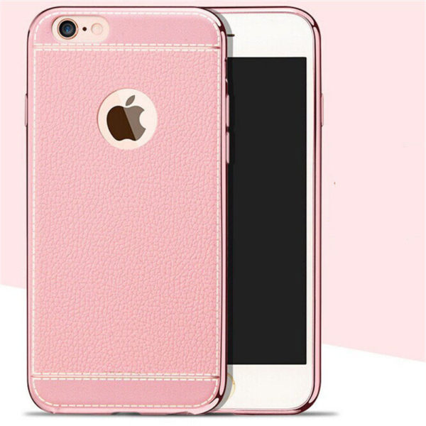 white trim pink leather iphone 7 case