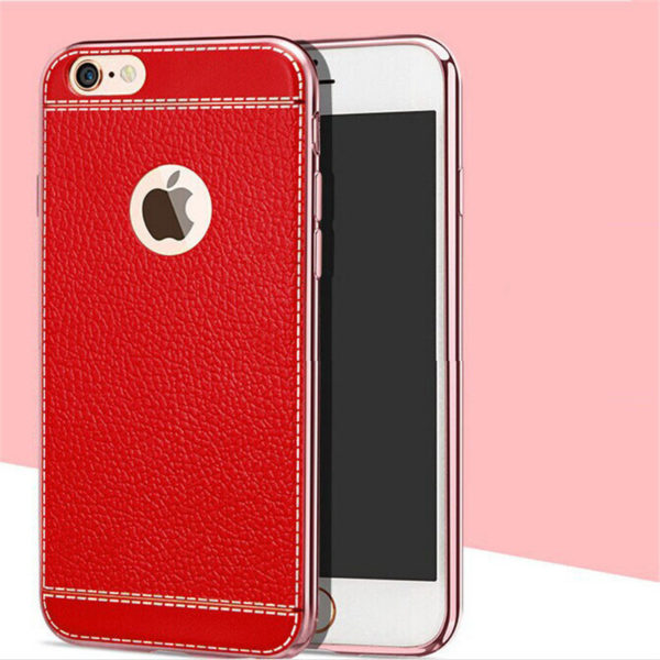 white trim red leather iphone 7 case