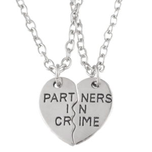 partners in crime necklaces