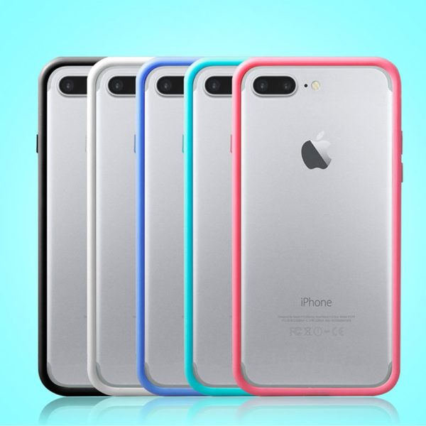 Black White Blue Green Pink iPhone 7 Bumper Cases