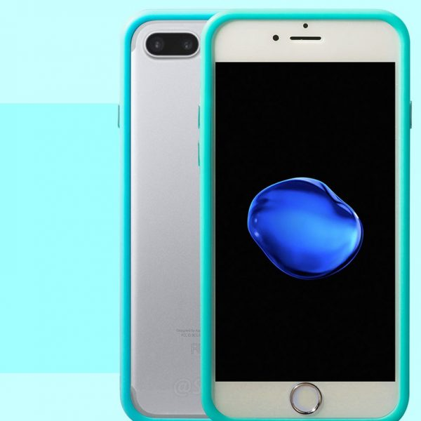 Light Blue Bumper iPhone 7 Plus Case